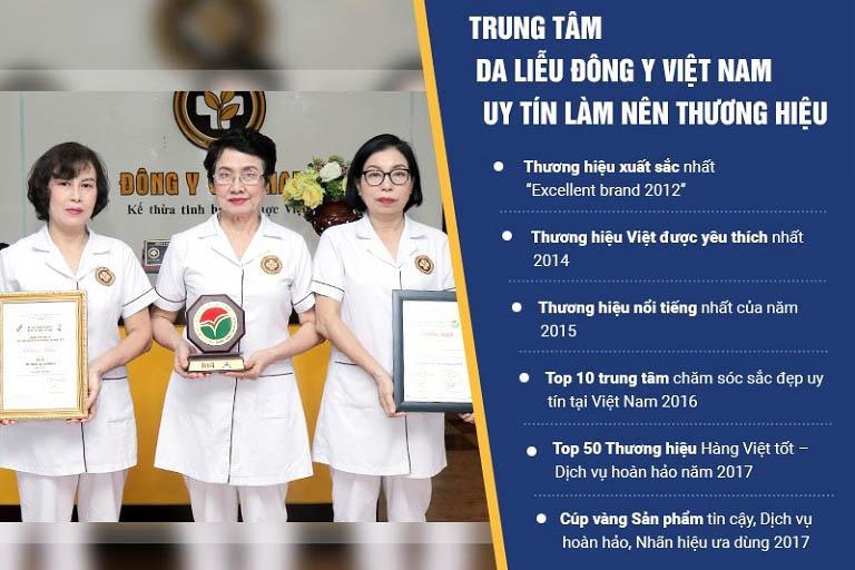 Trung tâm Da liễu Đông y Việt Nam là đơn vị uy tín hàng đầu trong khám chữa các bệnh Da liễu bằng YHCT