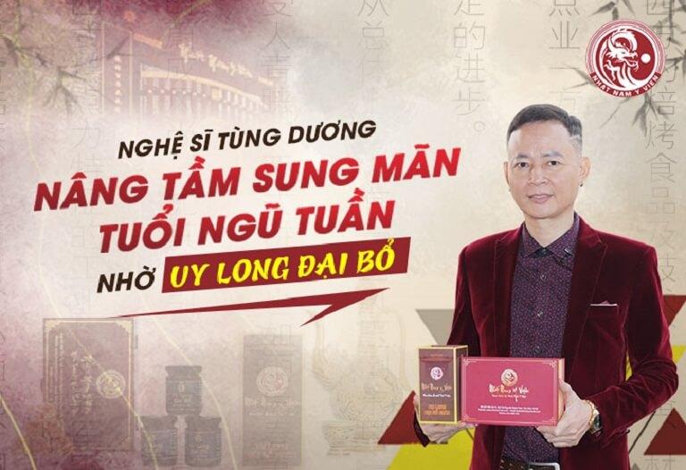 Diễn viên Tùng Dương nâng tầm sung mãn với Uy Long Đại bổ