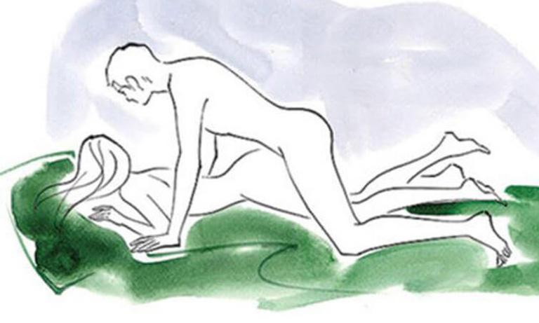 tư thế làm tình, quan hệ đụ với con gái kiểu úp thẳng chổng mông