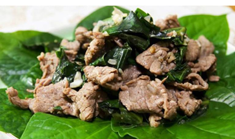 Chữa bệnh tổ đỉa bằng món ăn từ lá lốt