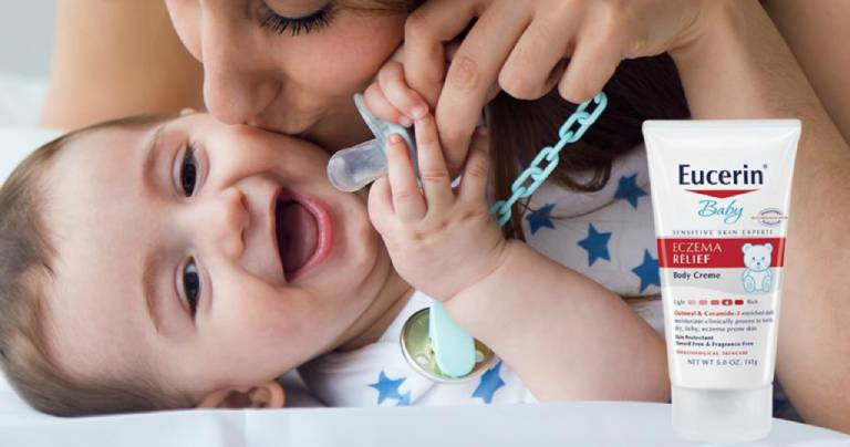Thuốc bôi Eucerin Baby Eczema Body Crème (Mỹ)