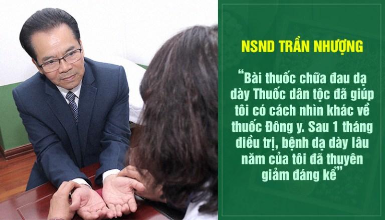 NSND Trần Nhượng điều trị bệnh hiệu quả ngay từ liệu trình đầu tiên