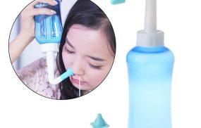 Chữa viêm xoang bằng nước muối với bình rửa mũi/bình xịt mũi
