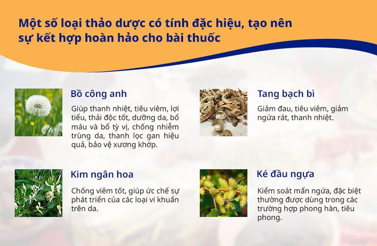 Thảo dược đặc trị được sử dụng trong bài thuốc An Bì Thang trị á sừng