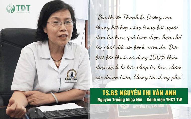 Ts.Bs Vân Anh đánh giá về Thanh bì dưỡng can thang