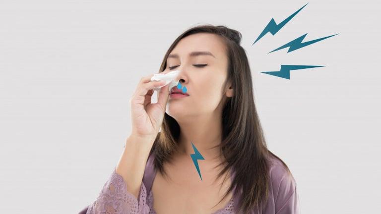 đau họng sổ mũi