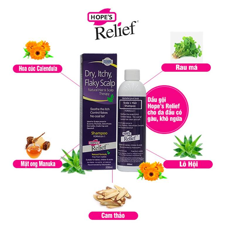 Dầu gội Hope's Relief Itchy Flaky Scalp
