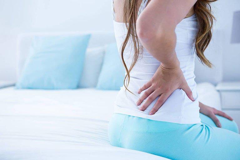 Khắc phục tình trạng đau lưng khi mới thụ thai ở bà bầu