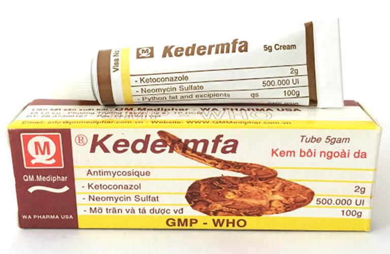 Một số lưu ý khi sử dụng thuốc trị hắc lào Kedermfa