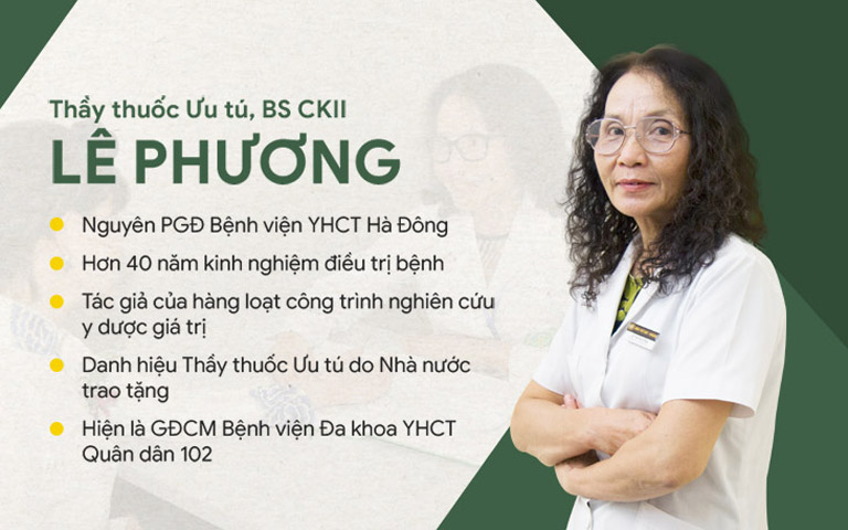 Bác sĩ Lê Phương hiện đang đảm nhiệm vai trò Giám đốc chuyên môn Bệnh viện Quân dân 102