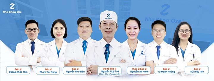 Phòng khám nha khoa quốc tế Oze uy tín bọc răng sứ hà nội