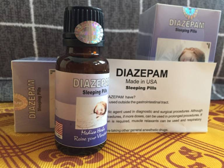 Thuốc ngủ dạng nước Diazepam