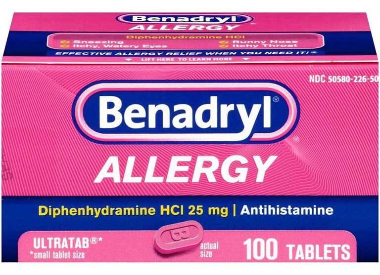 Thuốc chứa Diphenhydramine