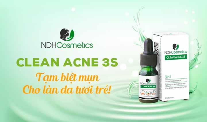 Clean Acne 3S trị mụn lừa đảo