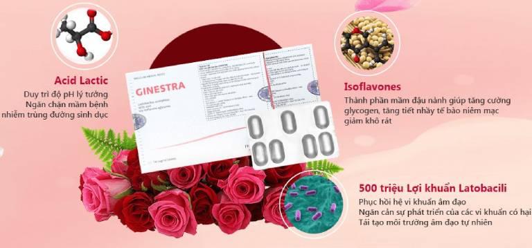 Viên đặt làm hồng và se khít vùng kín Ginestra