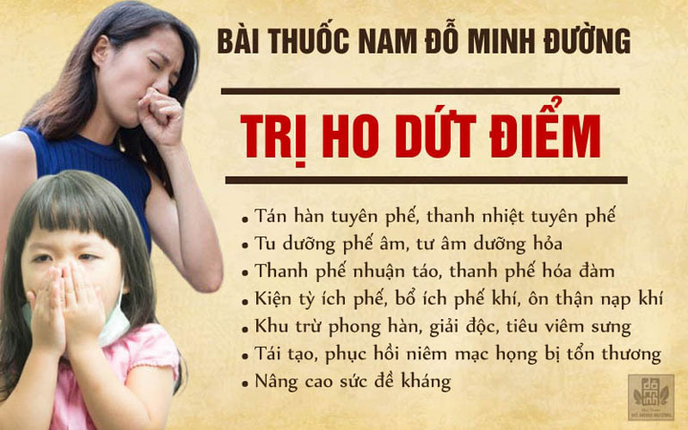 Tác dụng bài thuốc ho Đỗ Minh Đường