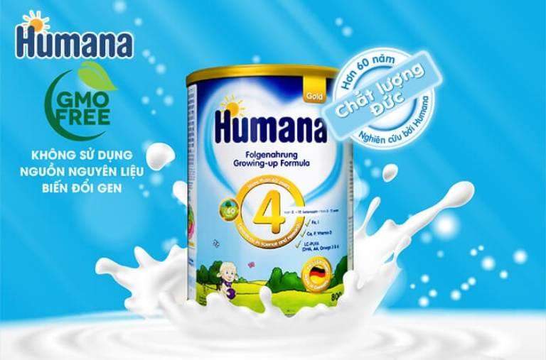 Sữa bột Humana cải thiện chứng táo bón ở bé