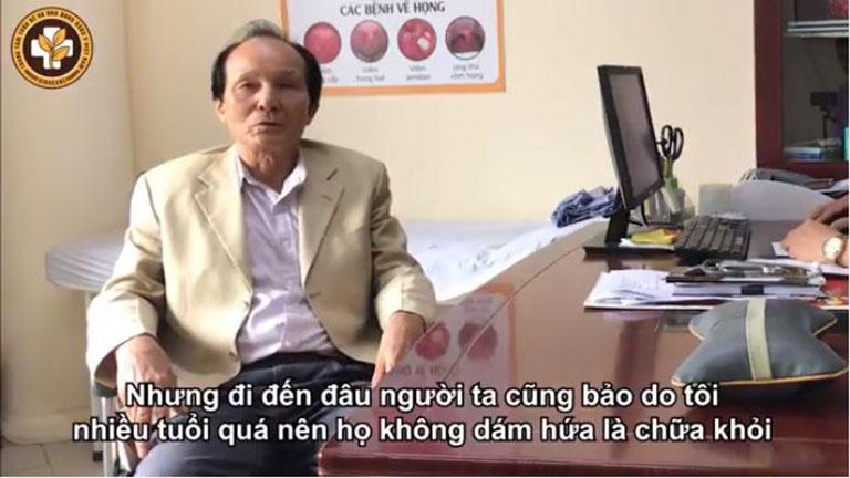 Bệnh nhân Hồ Sỹ Nhiếp chữa khỏi bệnh xương khớp tại Trung tâm Thừa kế & Ứng dụng Đông y Việt Nam