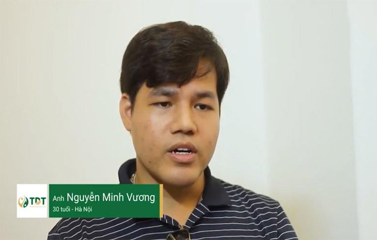 Anh Minh Vương chia sẻ hiệu quả điều trị mề đay tại Trung tâm Thuốc dân tộc