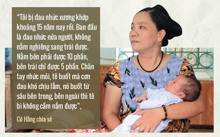 Cô Hằng, Vĩnh Phúc chia sẻ về tình trạng bệnh viêm đa khớp dạng thấp suốt 15 năm