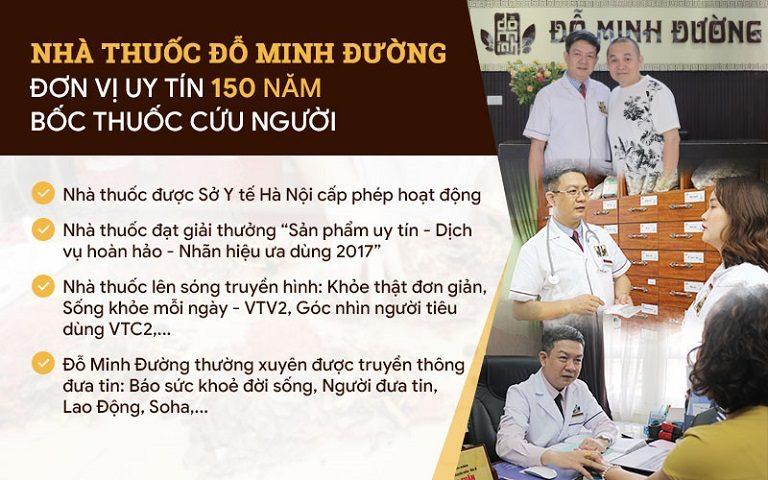 Nhà thuốc Đỗ Minh Đường - Đơn vị uy tín 150 năm hành y cứu người