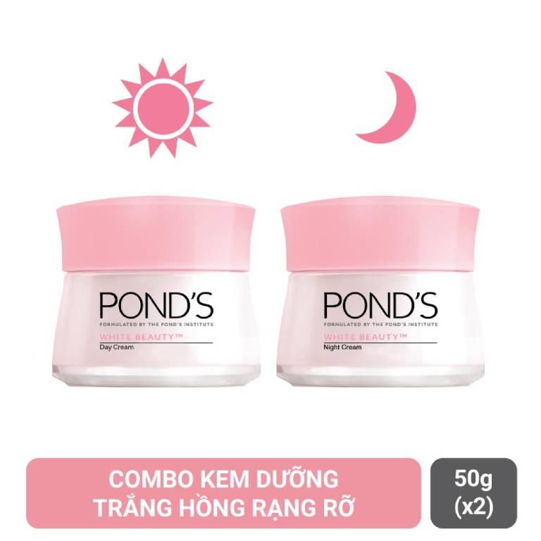 Bộ đôi kem dưỡng trắng da ngày và đêm Pond's White Beauty