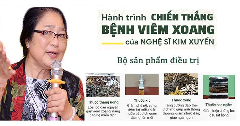 Phương thuốc Quân dân 102 giúp Nghệ sĩ Kim Xuyến chữa viêm xoang