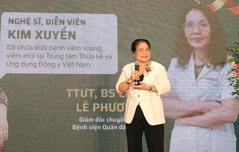 Nghệ sĩ Kim Xuyến chia sẻ hành trình chữa khỏi viêm xoang tại Bệnh viện Quân dân 102
