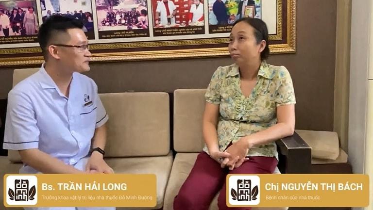 Bệnh nhân Nguyễn Thị Bách