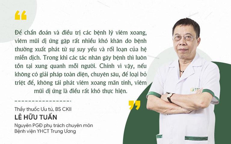Đánh giá của bác sĩ Lê Hữu Tuấn