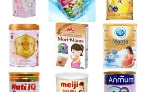 12 loại sữa bầu tốt nhất giúp thai nhi phát triển toàn diện