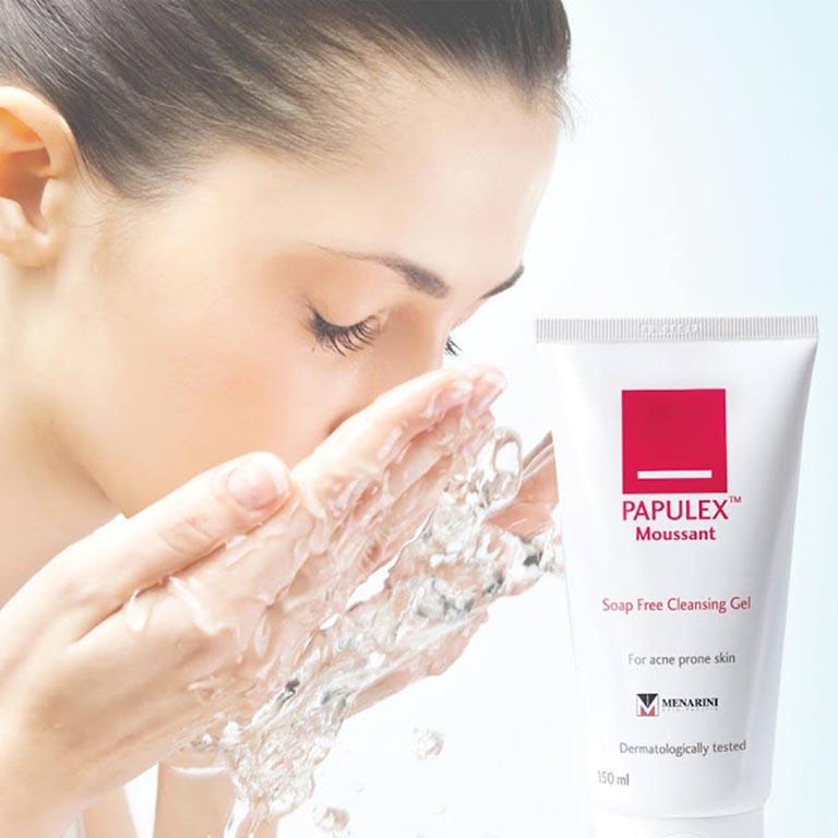 Sữa rửa mặt cho da nhạy cảm Papulex Moussant Soap Free Cleansing Gel
