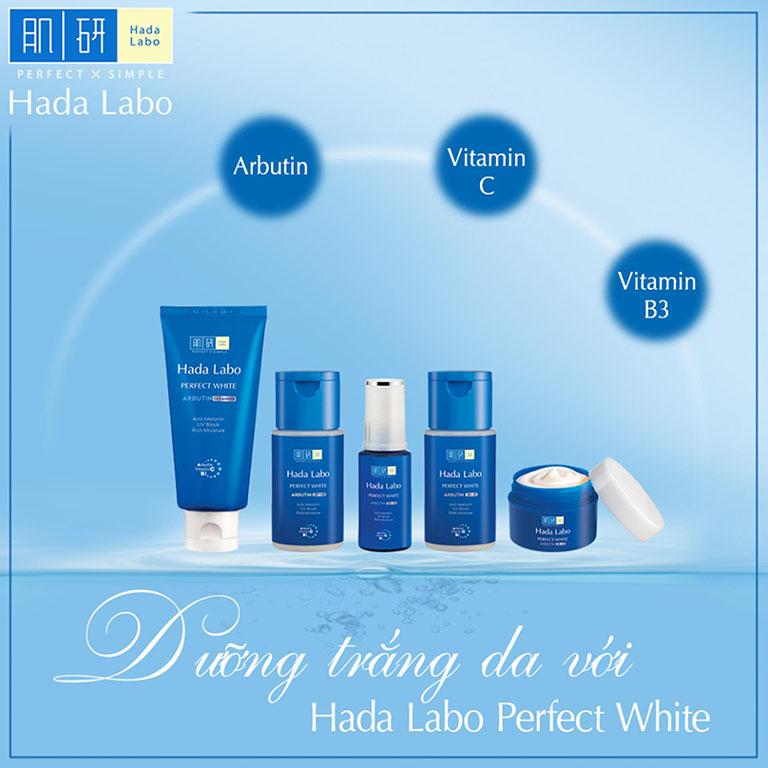 Sữa rửa mặt trị mụn Hada Labo Perfect White