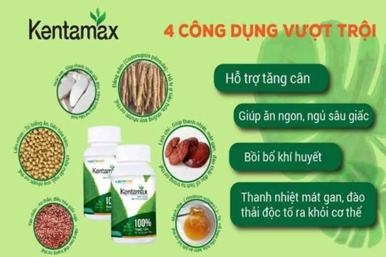 Kentamax - Viên uống tăng cân an toàn hiệu quả