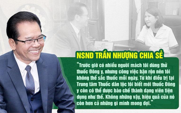 NSND Trần Nhượng đánh giá về bài thuốc sau khi điều trị khỏi bệnh