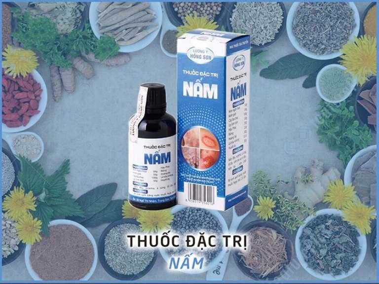 Thuốc trị nấm Hồng Sơn được chiết xuất từ thảo dược thiên nhiên, được đánh giá cao về mức độ an toàn