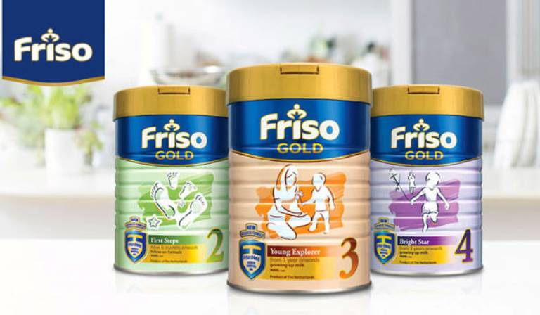 Sữa Friso được nhiều mẹ đánh giá là giúp bé tăng cân ổn định được nhiều mẹ bỉm tin tưởng lựa chọn