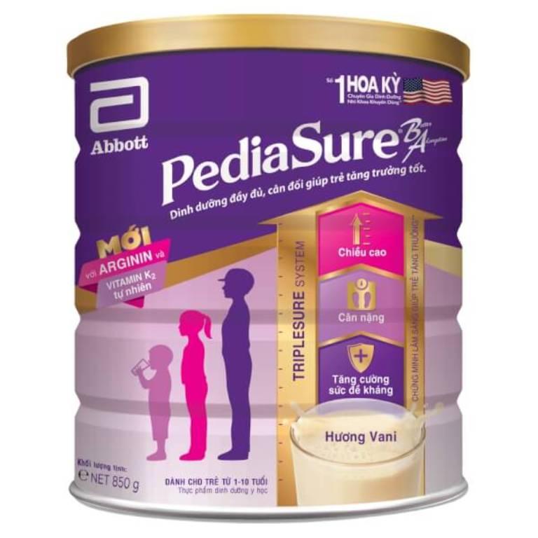 Pediasure Abbott là loại sữa tăng cân cho bé từ 1 - 10 tuổi có thể giúp bé ăn nhiều và ngon miệng hơn