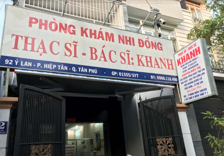 phòng khám nhi quận Tân Phú