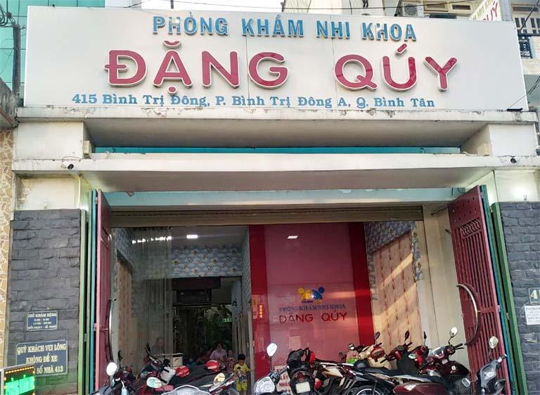 Phòng khám Nhi khoa của bác sĩ Đặng Quý ở quận Bình Tân - TPHCM