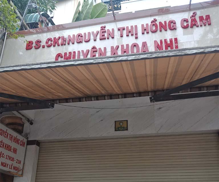 Phòng khám chuyên khoa Nhi của BS. CKII Nguyễn Thị Hồng Cẩm thuộc quận Bình Tân - TPHCM