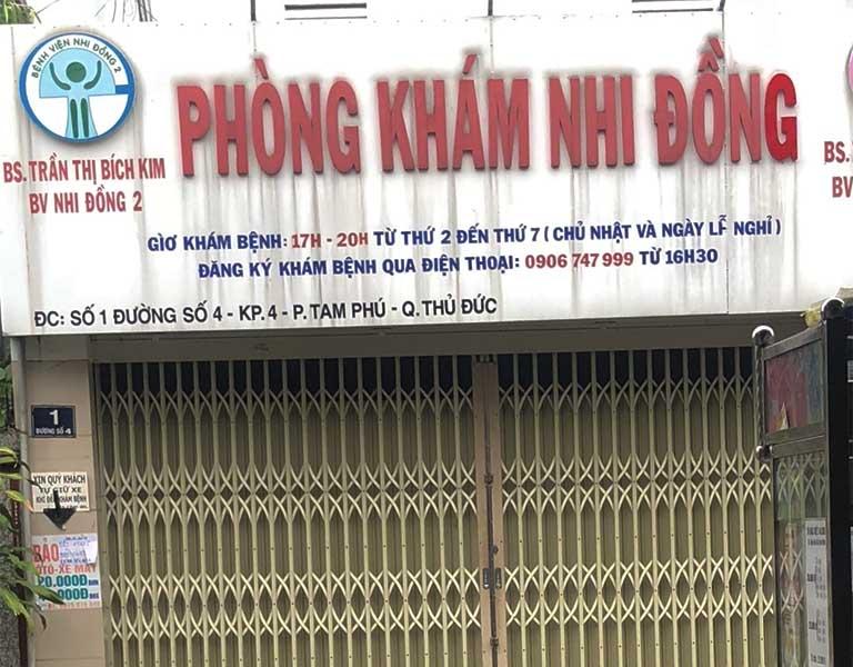 Phòng khám Nhi đồng - BS Trần Thị Bích Kim tại quận Thủ Đức