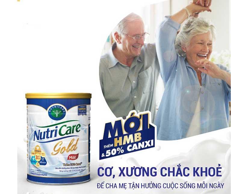 sữa tốt cho xương khớp người già