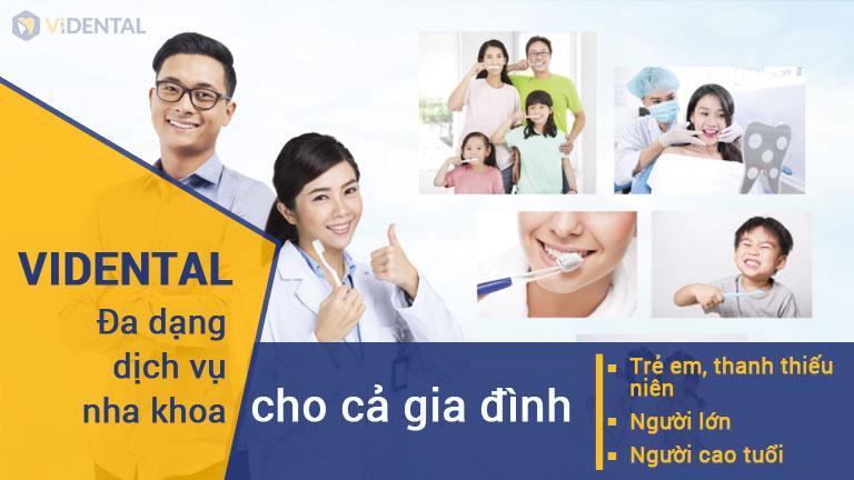 Vidental cung cấp dịch vụ đa dạng cho nhiều nhóm đối tượng khác nhau