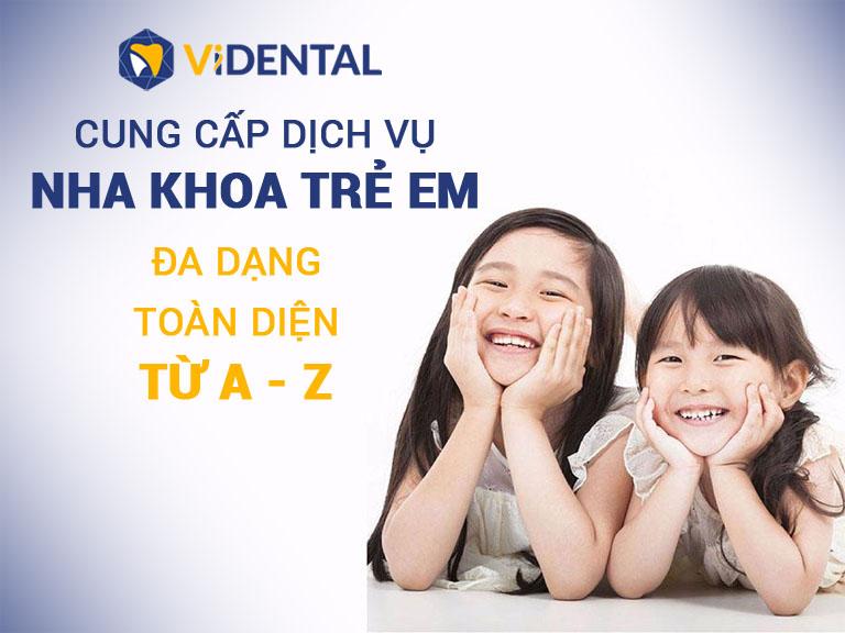 Dịch vụ nha khoa trẻ em tại Vidental