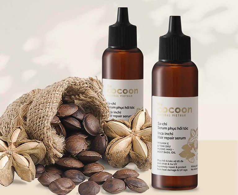 Serum hỗ trợ phục hồi tóc Cocoon Sachi