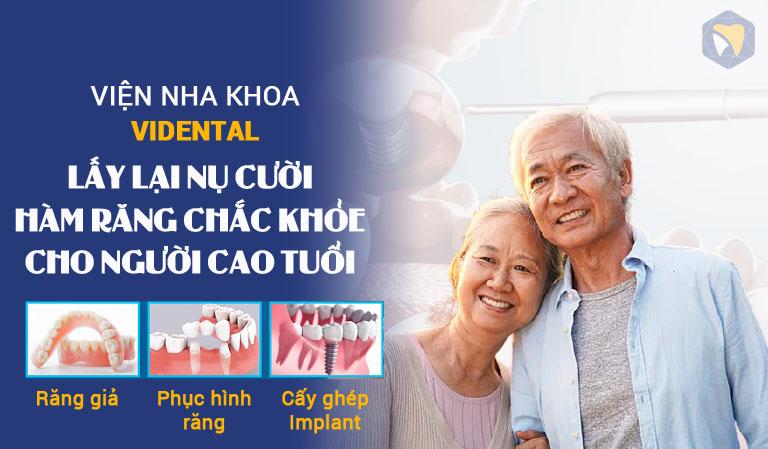 Dịch vụ nha khoa cho người cao tuổi tại Vidental