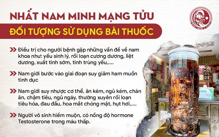 Nhất Nam Minh Mạng Tửu phù hợp với nhiều đối tượng
