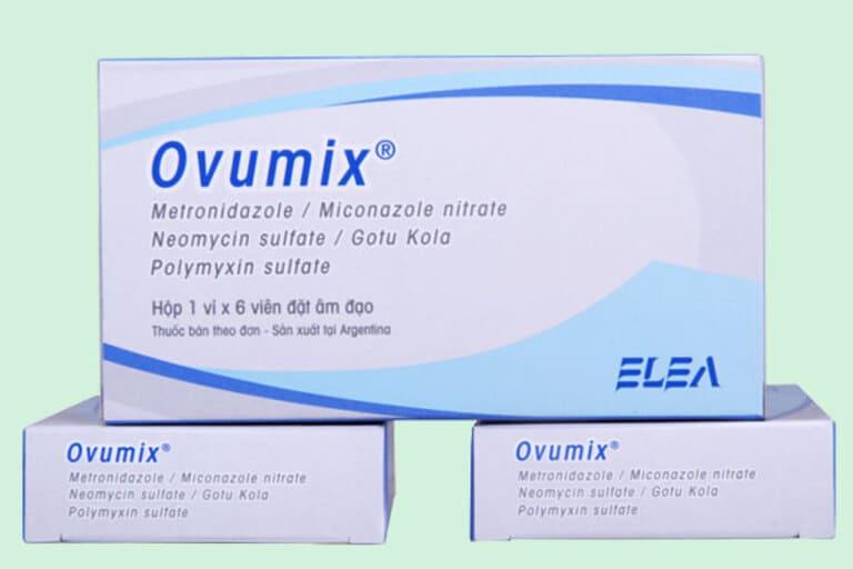 Thuốc đặt viêm âm đạo trị nấm Ovumix