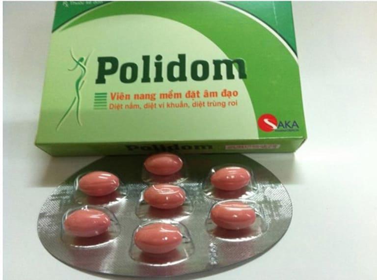 Thuốc đặt âm đạo trị nấm Polidom